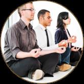 Business people meditating