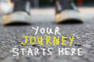 Your Journey Starts Here message